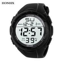 HONHX – montre de luxe pour hommes, numérique, militaire, Sport, étanche, 50, 2018