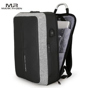 Image 5 - Mark Ryden New Anti thief USB Recharging Men Backpack NO Key TSA Lock Design Men Business Fashion Message Backpack Travel