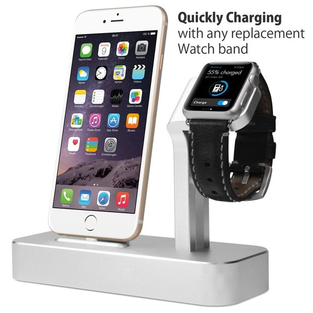 For iphone 7 for Apple Watch Stand Dock Charger for iphone 6 6S plus 7 7 plus 5 5s Stand Solid Aluminum Base Charging Station
