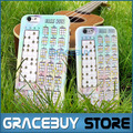 Ukulele Chord Chart Beginner Fingering Chart uke Chords Ukelele Chords Note Chart TPU Phone Cover Case for 6 Plus