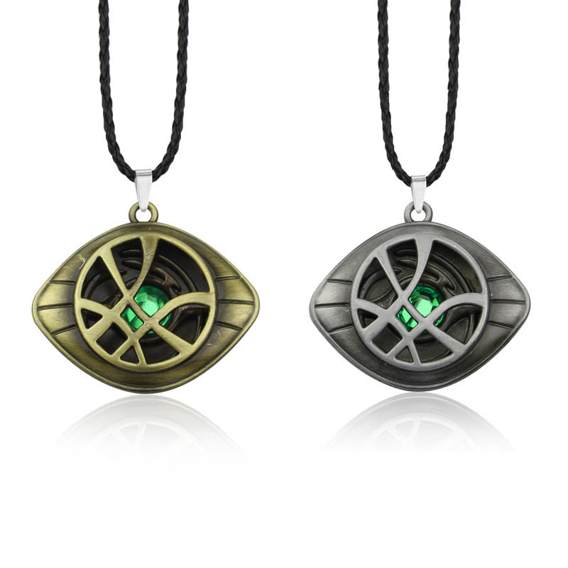 Doctor Strange Avengers Infinity War Necklace Crystal Eye Of Agamotto Pendant Fashion Necklaces Jewelry Accessories Kids Gift