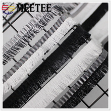 Meetee 10yards 2cm Polyester Fringe Lace Ribbon DIY Trims Clothing Curtain Sofa Decoration Craft Sewing Accessories BD391
