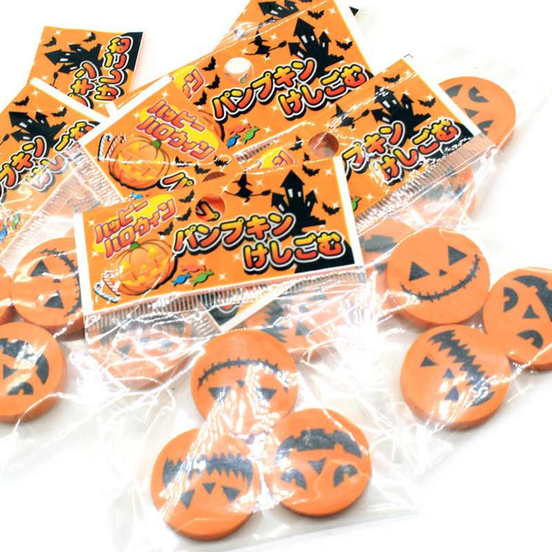 3 шт. Творческий Хэллоуин резиновая Тыква ластик сумка 3 пакеты канцелярский подарок для студента ребенок награда офис и школьные принадлежности