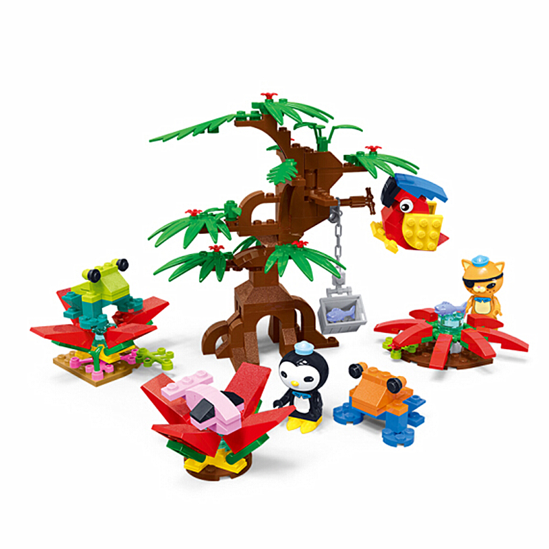 Octonauts Kwazii Peso Poison Dart Frog Habitat Building Blocks Sets Bricks Classic Model Kids Toys Gifts Compatible Legoings