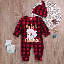 Одежда для рождественских праздников; комбинезон для новорожденных девочек и мальчиков; комбинезоны одежда с надписью «Palid Santa» и капюшоном; Infantis; костюм* 95