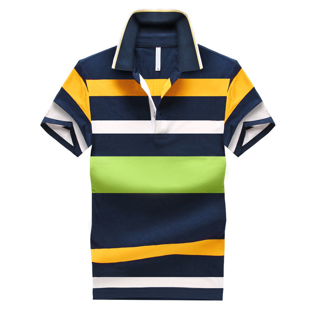 Summer New men's lapel striped cotton short-sleeved shirt fashion business casual Slim Fit shirt high quality