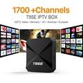 Paquete de Canales de IPTV Árabe IPTV Streaming de Caja 1700 Europa Cielo Inteligente Android Wifi 1G/8G Italia Portugal Francés IP TV Box receptor