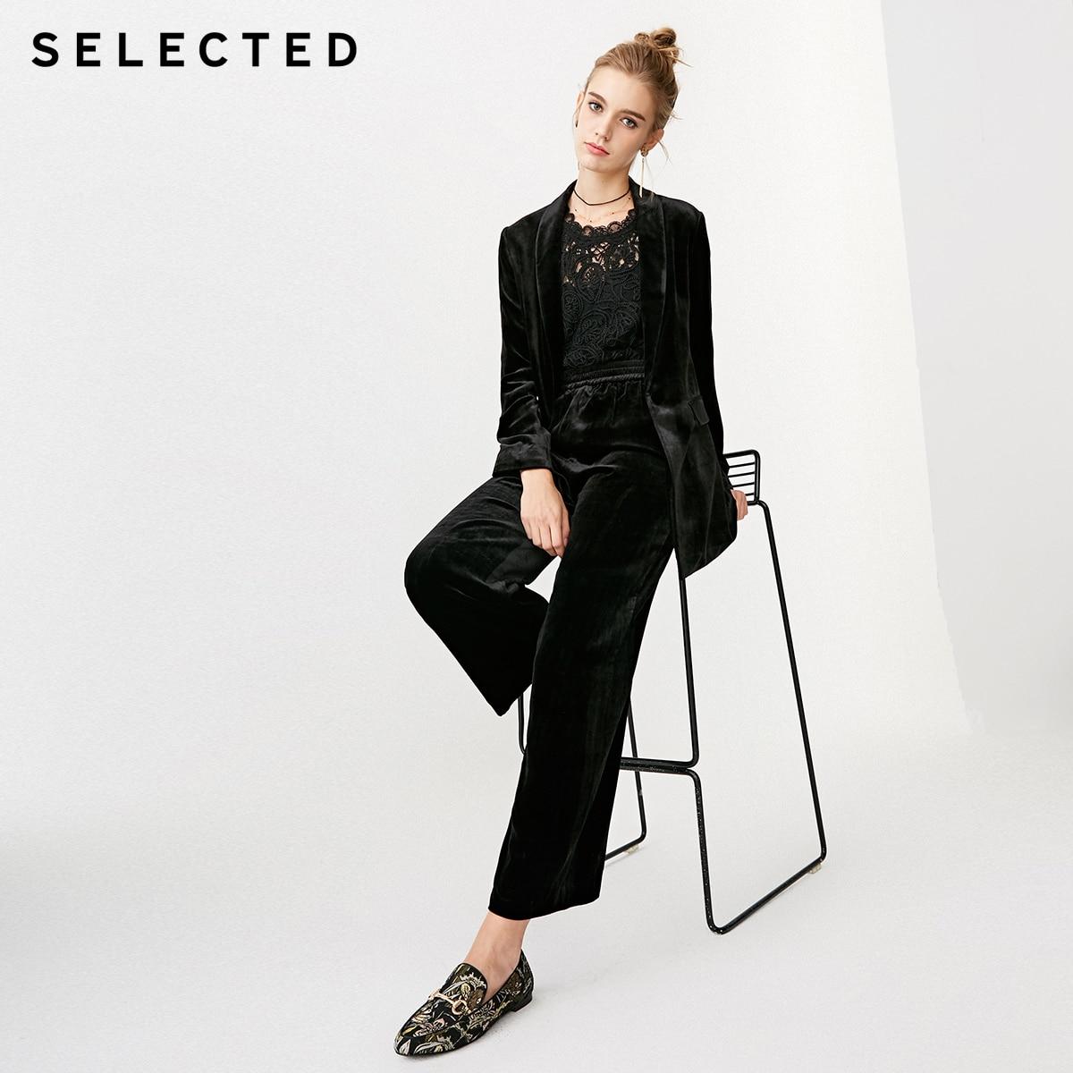 Wybrane kobiet czysty kolor aksamitna luźne Fit elastyczne spodnie na co dzień S  418414553 w Spodnie i spodnie capri od Odzież damska na  Grupa 2