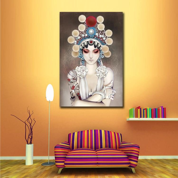 Chinese Figure Peking Opera Face Wall Art Pictures Modern