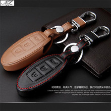 New Genuine Leather Car Key Cover for Infiniti q50 JX35 g25 fx35 Q70L QX50 car