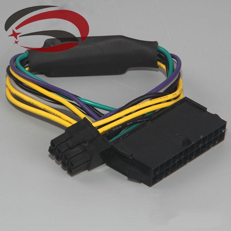 Prix pour 10 ps ATX 24Pin Femelle pour pour DELL Optiplex 3020 7020 9020 T1700 Serveur Carte Mère 8Pin Mâle Adaptateur Câble D'alimentation Cordon 30 cm 18AWG