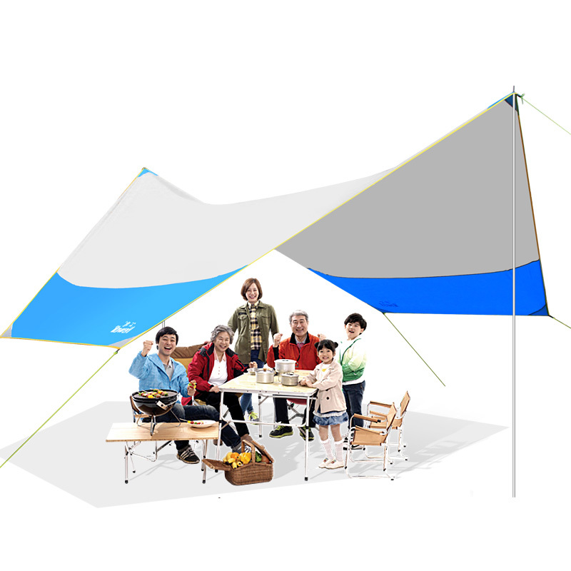 цены Large Outdoor Beach Shelter Canopy Pergola Tarp UV Folding Fishing Tent Sun Awning Roof Ultralight Waterproof 465*400*250cm