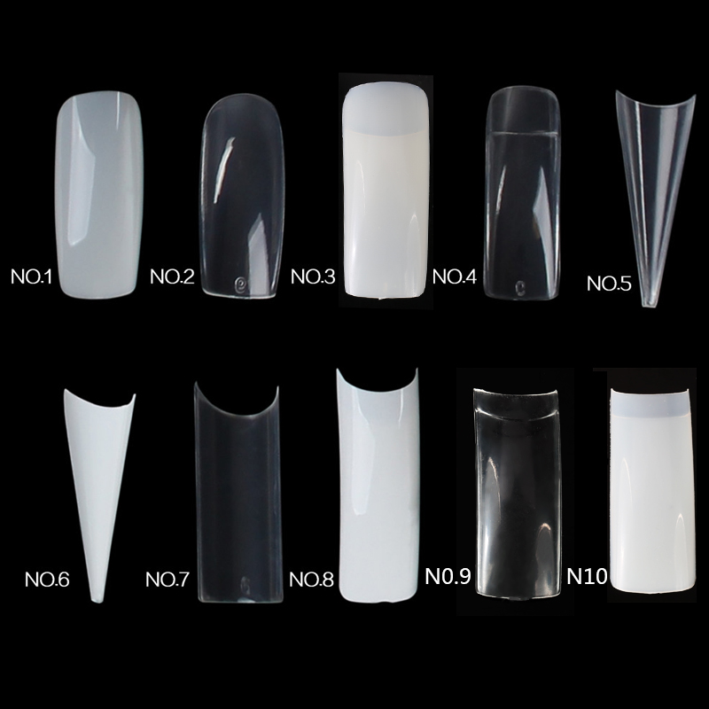 Lily ängel 500st Falsk Nail Art Tips Fransk Akryl Artificiell Full Stiletto Fake False Nail Art Dekorationsverktyg Z40
