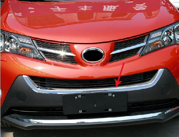 ABS Chrome Front Grille Around Trim Racing Grills Trim For 2014 toyota RAV4 for chevy epica 2007 2012 front grille around trim front grills around trim racing grills trim abs 1pc