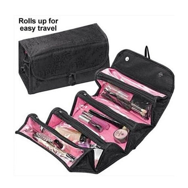 toiletry bag grand trousse de maquillage de marque luxe women Roll-N-Go makeup capacity of Cosmetic multi packet compact storage
