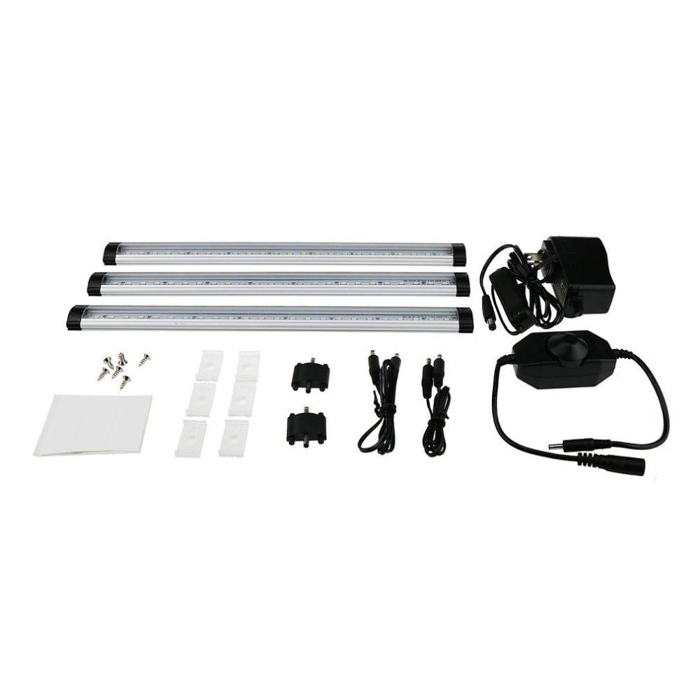 Wireless 3 Strips PIR Motion Sensor LED Closet Cabinet Night Light Warm White 300mm*3 EU/US/AU Plug цена