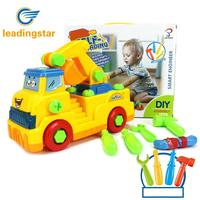 LeadingStar Children Large Take Apart Excavator Educational DIY Engineering Vehicle Toys Gifts With Music Lights ZK40