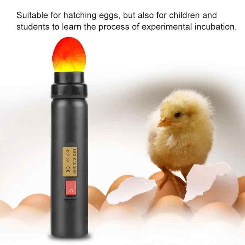 Высокое светодио дный светодиодный свет Яйцо Тестер для курицы перепела инкубатор домашней птицы питомнике Инкубационное яйцо тестер Качество инспекционный инструмент