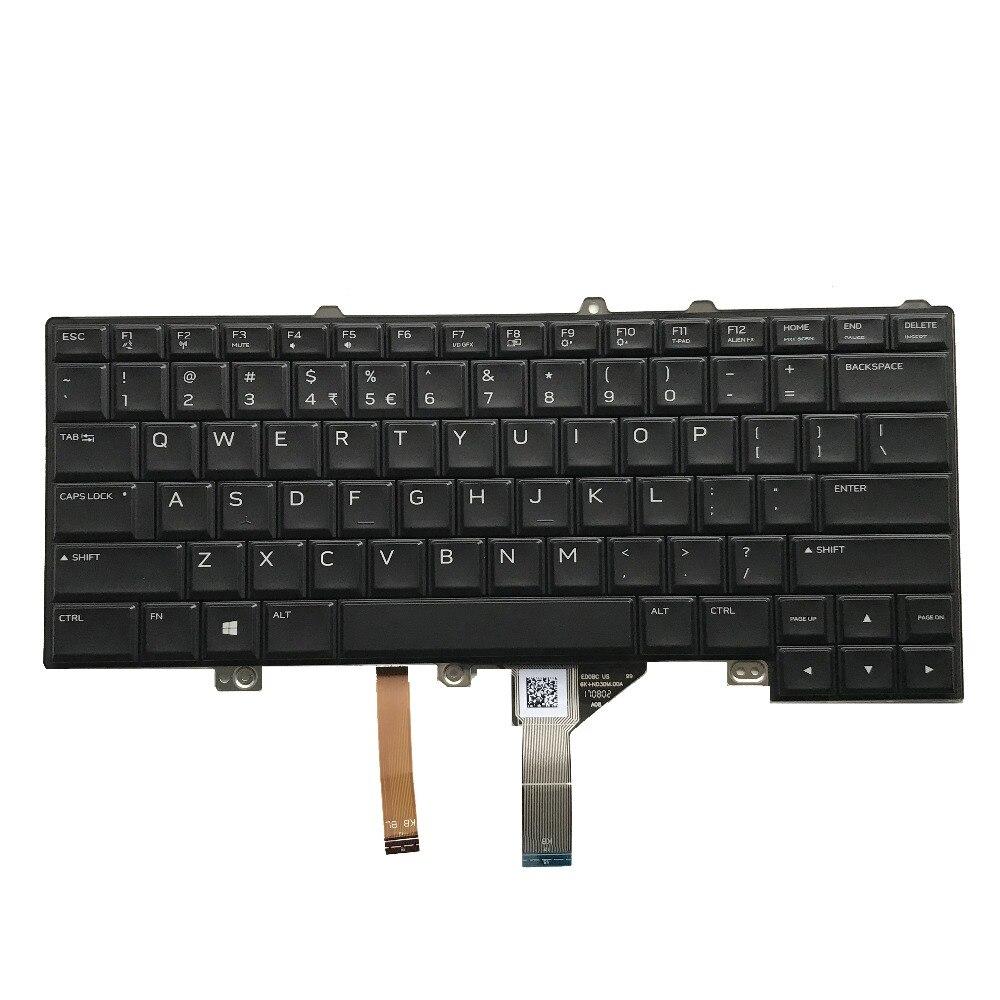 New Genuine Original For Dell Alienware 15 R3 Laptop Keyboard US English CN 0XJYDD 0XJYDD XJYDD