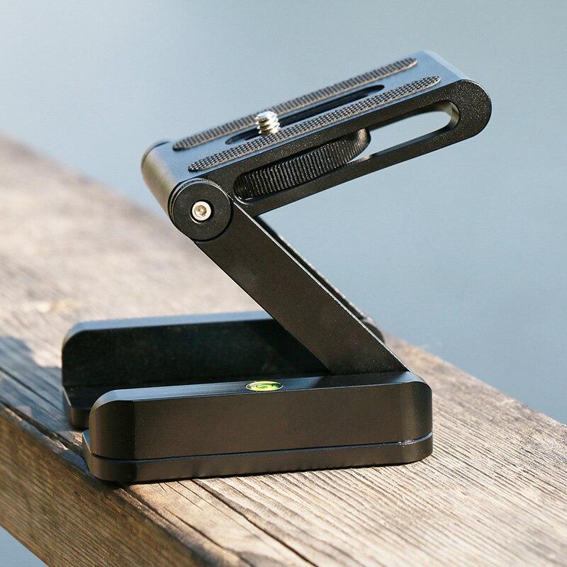 Ulanzi Z Flex Tilt Stativkopf Aluminium Alloy Klapp Z Tilt kopf Schnellwechselplatte Stativ Wasserwaage Für Handys Kamera