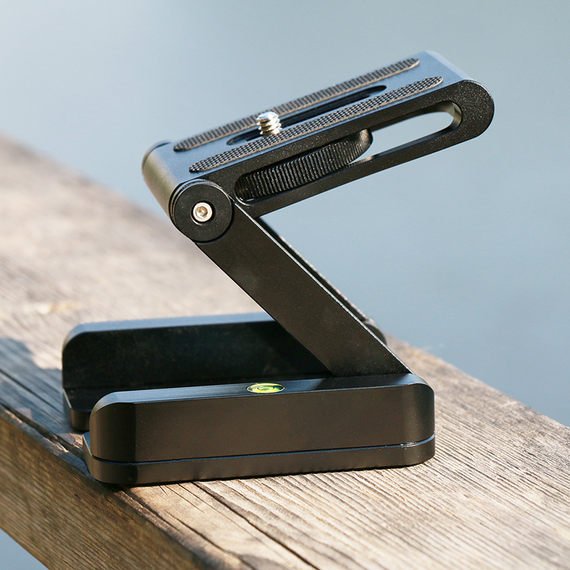 Ulanzi Z Flex Tilt Tripod Head Aluminum Alloy Folding Z Tilt Head Quick Release Plate Stand Mount Spirit Level For Phones Camera