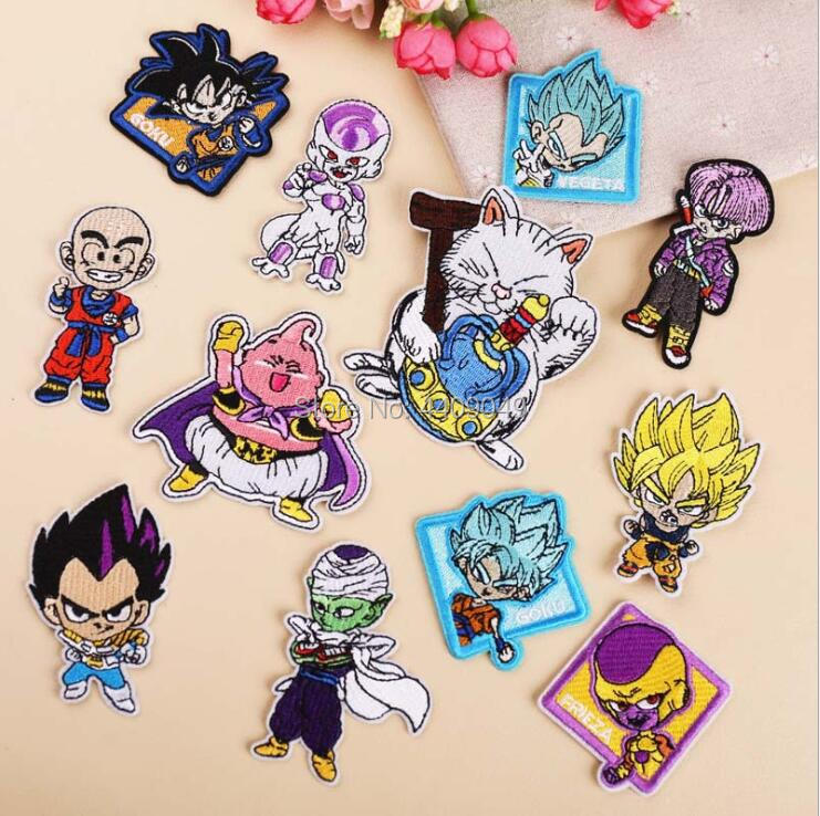 Classic Fighting Cartoon Dragon Ball Iron On Patch Children Embroidered Fabric Badge Kids Clothing Patch Diy Wholesale Patches Aliexpress