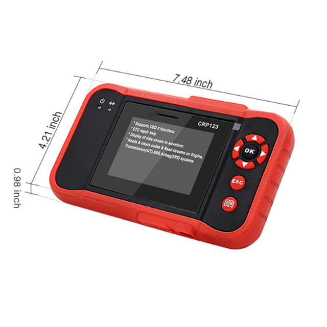 Cheap OBDII Code Reader Scanner Test Engine/ABS/SRS/AT CRP123 Auto Diagnostic Tool