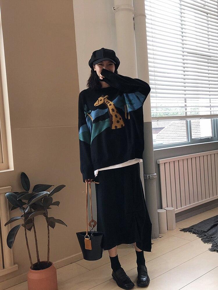 Coreano New A Allentato Lunghe Autunno 2018 Maglione Maniche Studente qgwZpCR