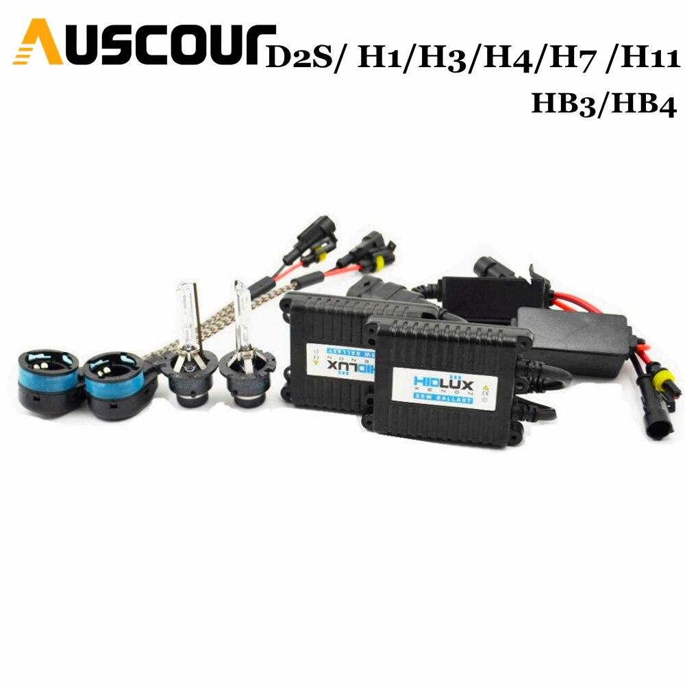 35w D2S hid xenon kit ballast car conversion kit headlight white color 6000k car headlight auto
