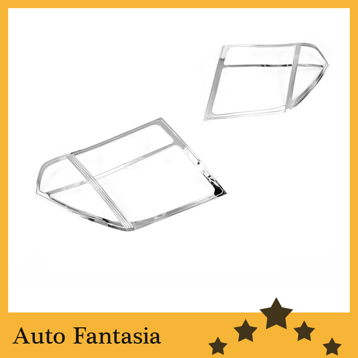 High Quality Chrome Head Light Cover for Nissan Navara / Frontier D40 06-09 Free Shipping high quality chrome tail light cover for skoda octavia mk2 04 08 free shipping