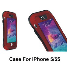 new design wholesale 5 Colors dirt/shock proof Metal Alloy  Mobile Phone Bags & Cases case for iphone 5 5s SE