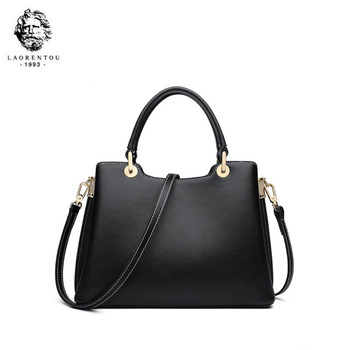 LAORENTOU 2020 new fashion women Leather bag luxury quality cowhide big capacity designer handbags tote women shoulder bag