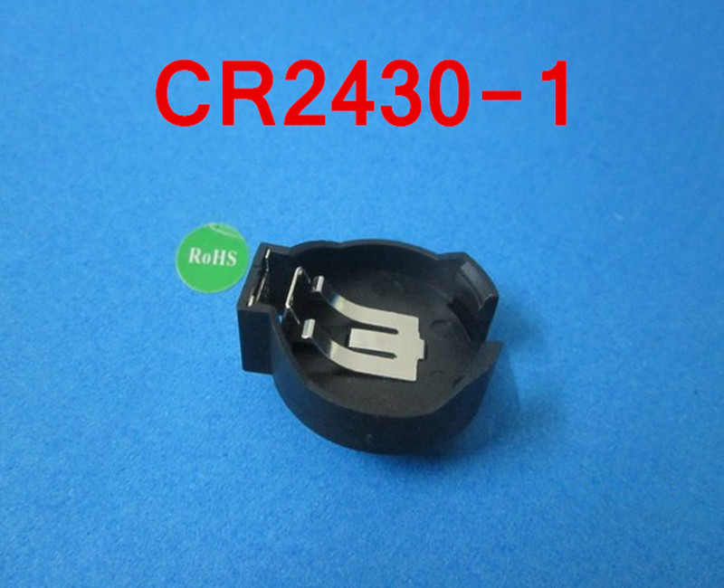 (100pcs/lot)CR2430-1 <font><b>Battery</b></font> <font><b>Button</b></font> <font><b>Cell</b></font> <font><b>Holder</b></font> Socket,retail+wholesale.