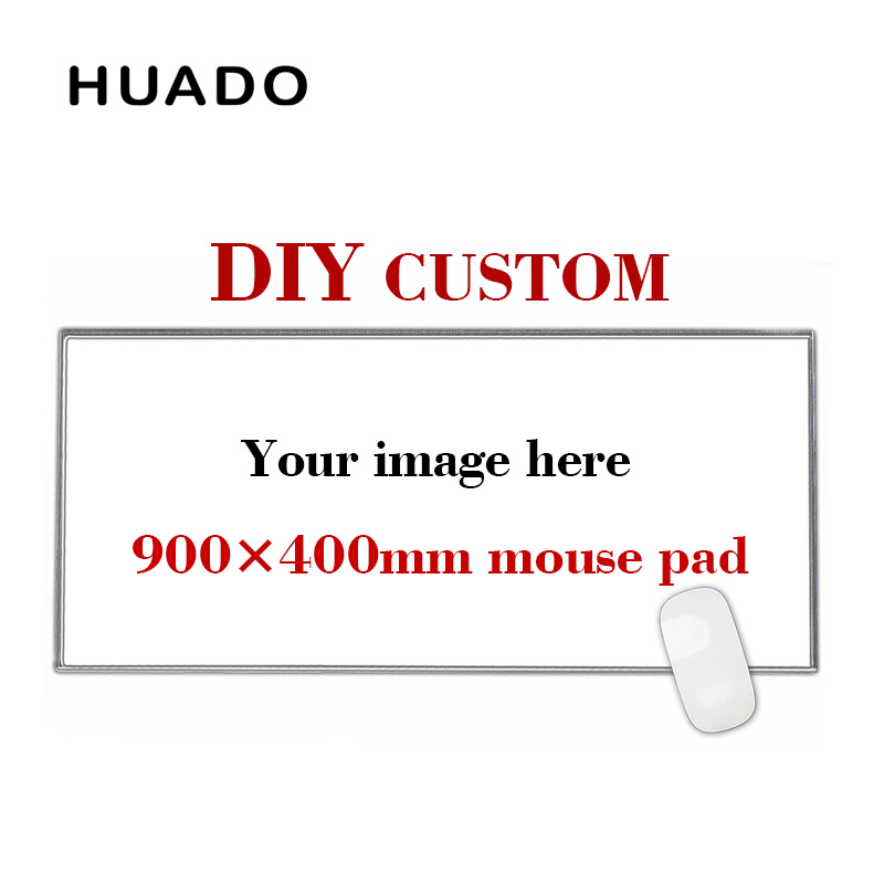 900 * 400mm DIY Custom Rubber Gaming Mouse Pad Mat Laptop Keyboard Mat XL para overwatch / cs go / world of warcraft