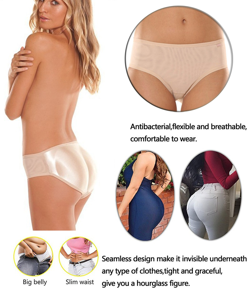 NINGMI Sexy Butt Lifter Control Panties Women Waist Trainer Body Shapers Pulling Underwear Slimming Pant Hip Push Up Brief Short (18)