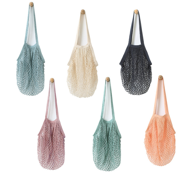 Yeo Pure Cotton Net Bag Supermarket Ping Travel Beach Bags Kitchen Hanging Grocery Storage Tote
