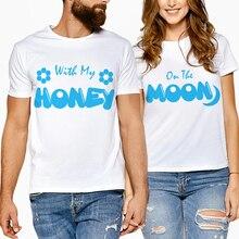 Matching Couple Clothes Lovers T-Shirts Letter Print Woman T-Shirts Cotton Short Sleeve T Shirt Women Couple Tshirt Men Tees цена