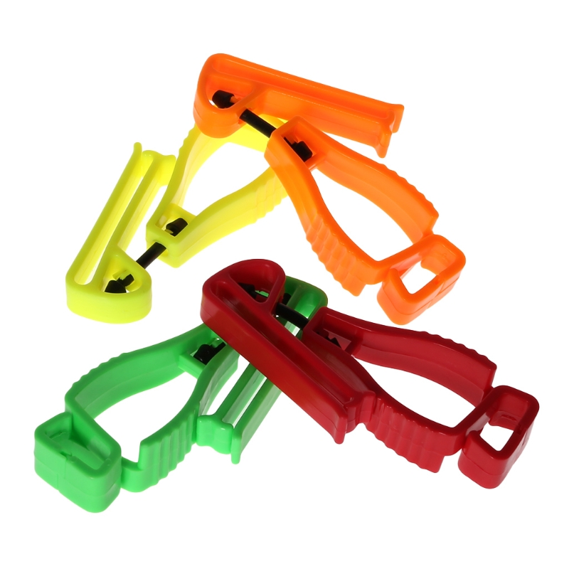 Plastic Glove Clip With Protective Holder Safety Work Gloves Utility Guard Clip F42D