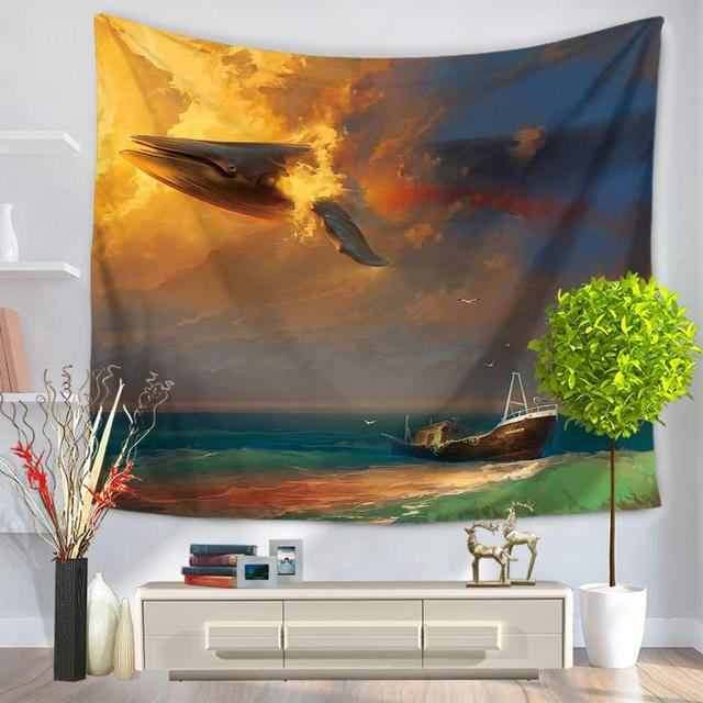 Shark Print Wall Tapestry 3