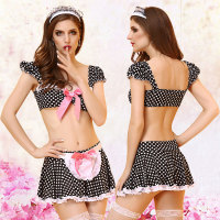 New Erotic Lingerie Costumes Lady Maid Outfit Uniform Temptation Underwear Pajamas Clothes Tire Skirt Apron