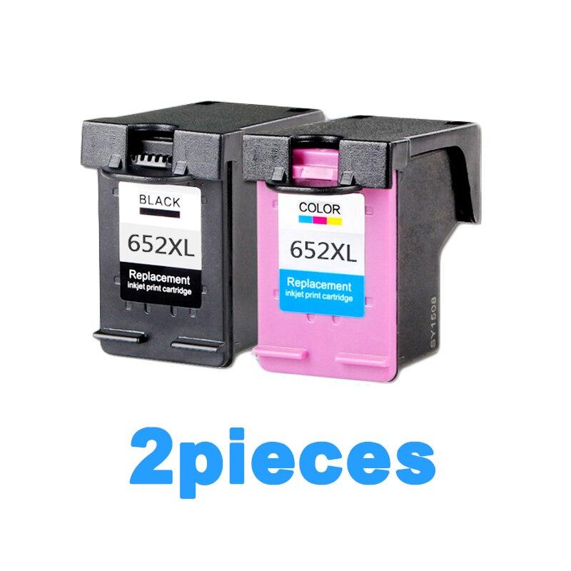 2 pcs XiongCai compatible cartouche d'encre Pour HP 652 Deskjet 1115 2135 2136 2138 3635 3636 4536 4535 imprimante cartouche Pour HP652