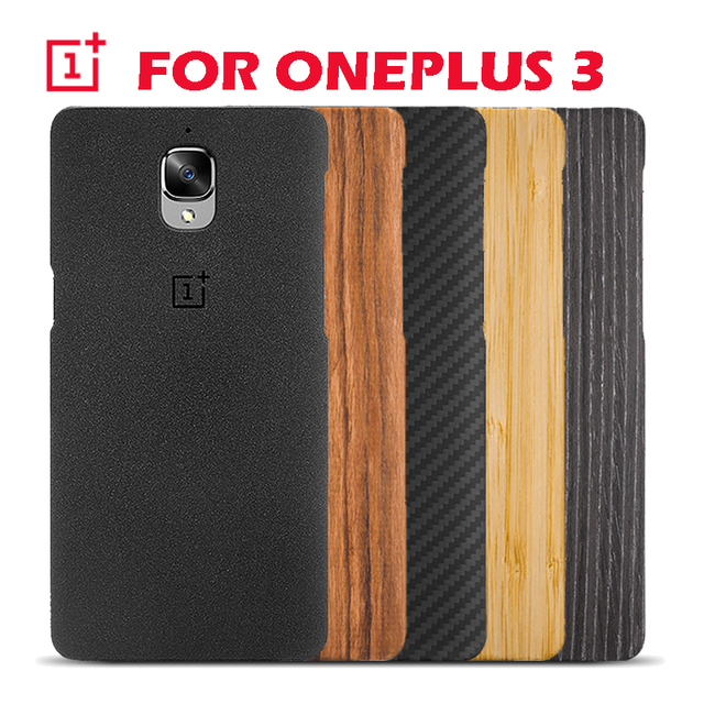 on sale 8206e 10991 US $22.99 |Original official Oneplus 3 case oneplus three back cover cases  and covers wood original accessories-in Phone Bumper from Cellphones & ...