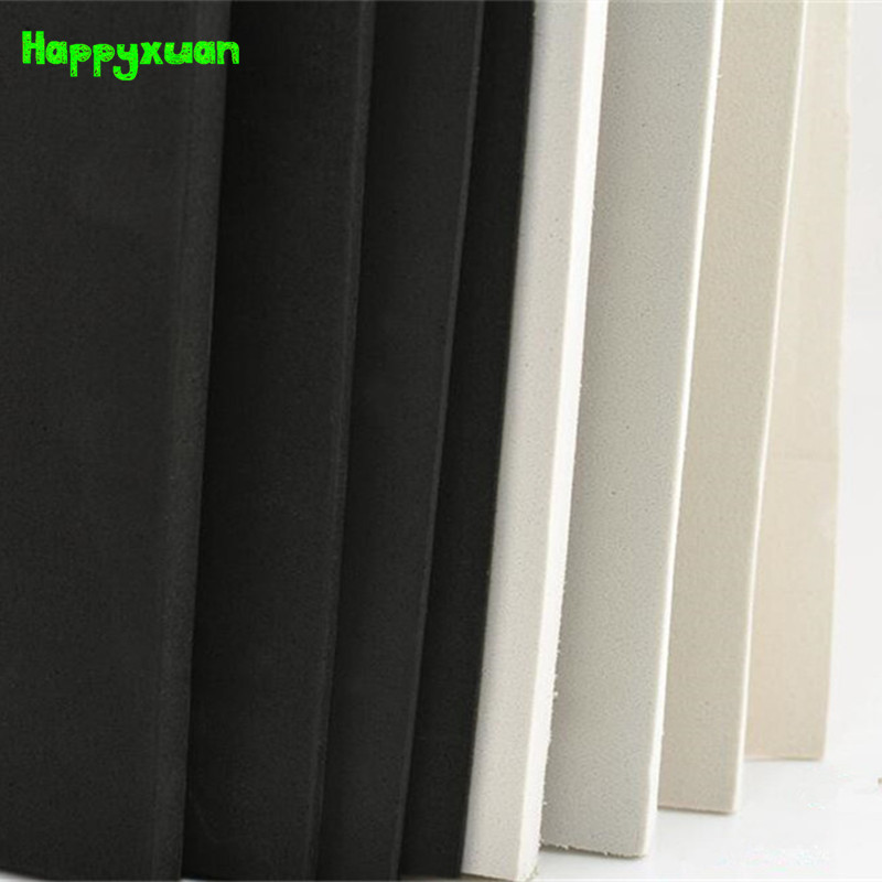Happyxuan 2 pcs/lot 100*35cm 10mm EVA Foam Sheet Cosplay 45 degree White Black Sponge Paper DIY Craft Materials 2 pcs black white 100