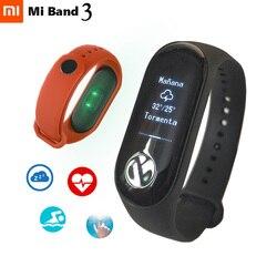 Xiao mi bande 3 Bracelet intelligent de remise en forme Bracelet mi Band3 OLED Message fréquence cardiaque temps Smartband Bluetooth 4.2 Android IOS