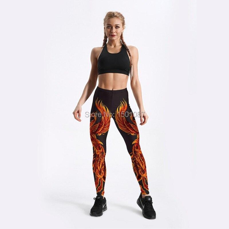 b526053f098 2019 New 3D Phoenix Sexy Women Leggings Trousers Yoga Fitness ...