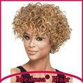 Медуза продукты волос: синтетические парики для женщин Современные шаг стили Короткие вьющиеся Смешивать цвета парик с челкой Парик courte SW0120B