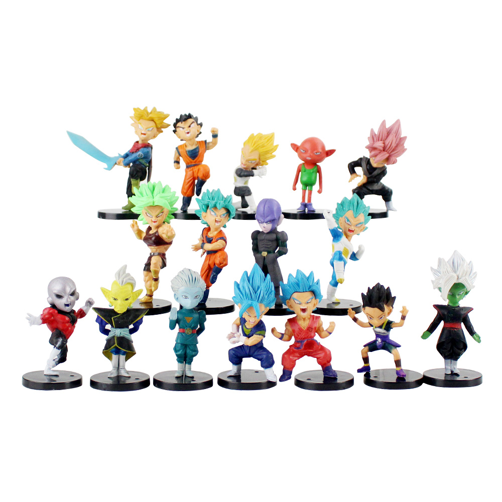 16pcs/set Dragon Ball Jiren Kale Grand Priest Zamasu Monaka Trunks Vegeta Son Goku Son Gohan PVC Figures Toys DBZ Collelction16pcs/set Dragon Ball Jiren Kale Grand Priest Zamasu Monaka Trunks Vegeta Son Goku Son Gohan PVC Figures Toys DBZ Collelction