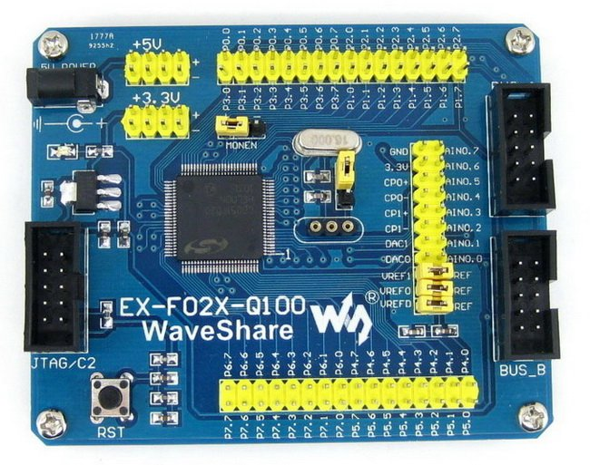 C8051F Series C8051F020 8051 Evaluation Development Board Kit Tools Full I/O Expander EX-F02x-Q100 Standard цена