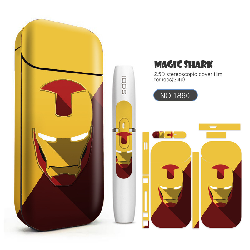 Cigarette électronique Housse De Protection PVC Matériel Peau Pour IQOS2.4pod Plus Autocollant Cas Manches Anti-Poussière Décoratif