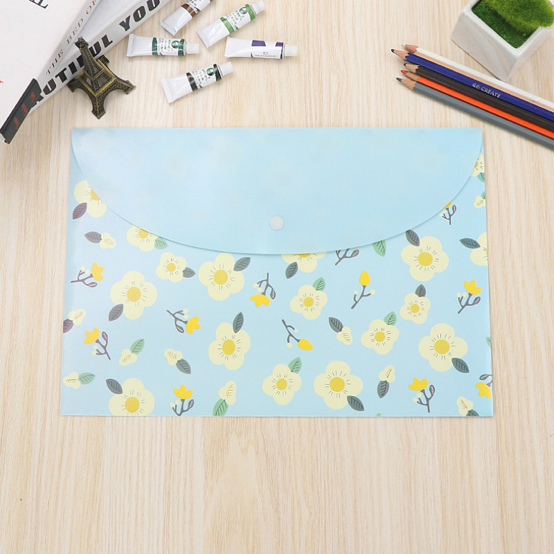 50 pcs 33 23CM Waterproof Plastic buckle Folder Book Pencil Case Bag File document for office student supplies filing products in File Folder from Office School Supplies